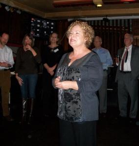 Kay Crowder at Christmas party 12-8-14