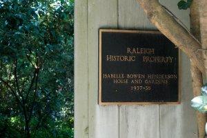 Historic Property Plaque at driveway