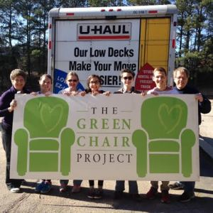 """Green Chair"" collectors celebrate service day."