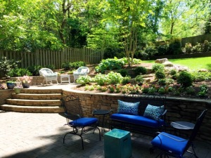Back Yard landscaping, 2607 Van Dyke