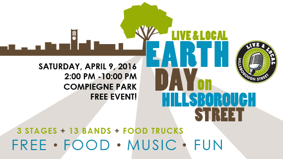 Live & Local: Earth Day 2016 on Hillsborough Street